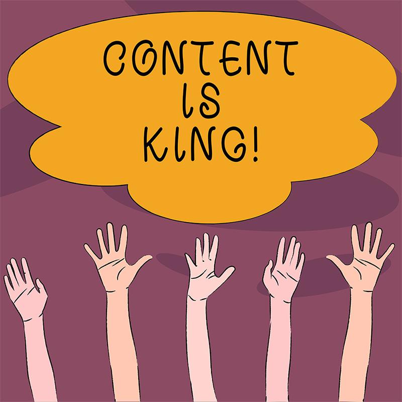 gehobene-haende-sprechblase-content-is-king-psmedia-social-media-performance-marketing-agentur-hamburg